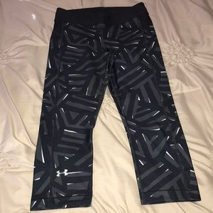 Under Armour cropped workout pants with pattern
